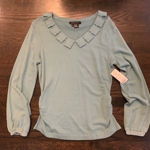 NWT Etcetera Size XL Blouse with accents